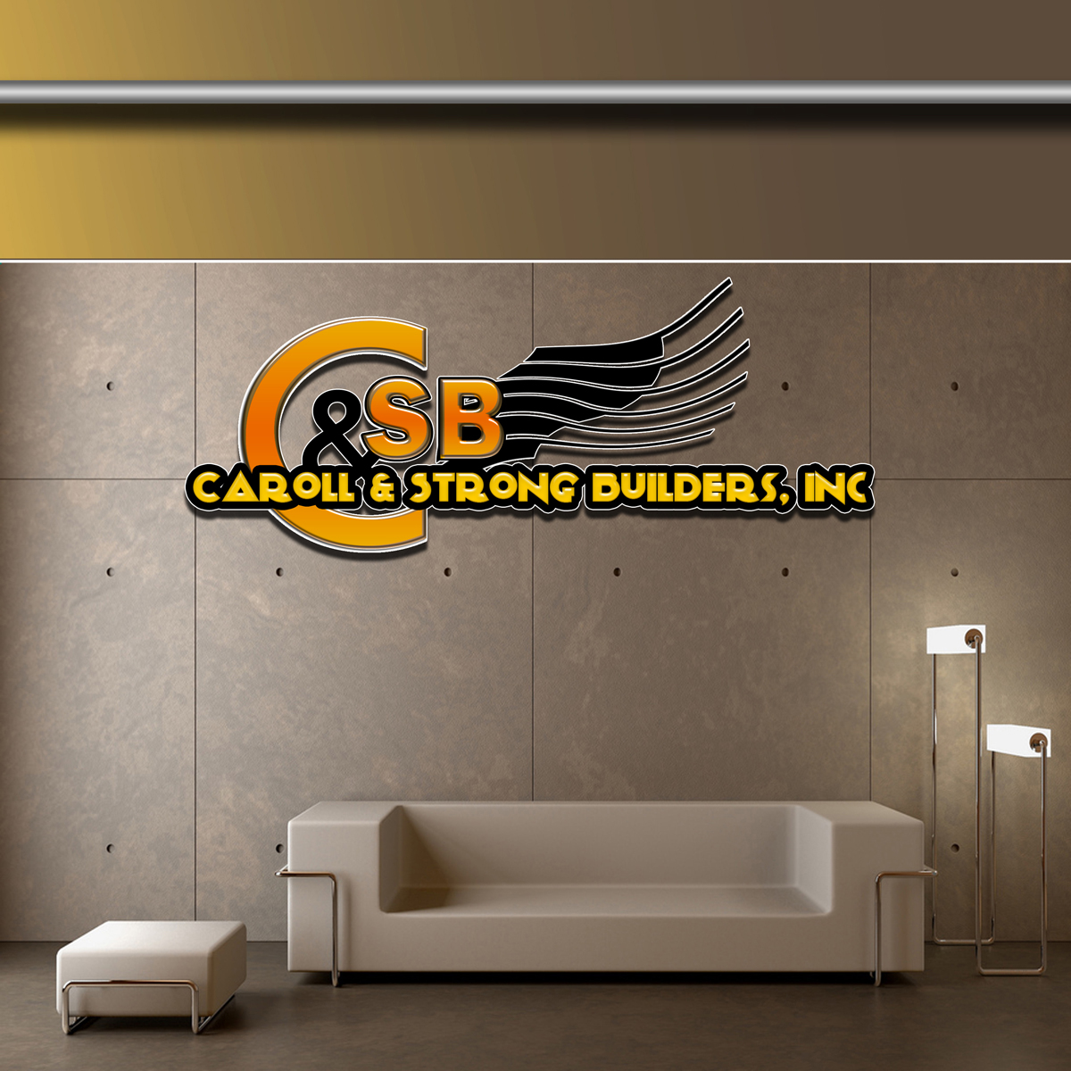 Logo Design by MITUCA ANDREI - Entry No. 22 in the Logo Design Contest New Logo Design for Carroll & Strong Builders, Inc..