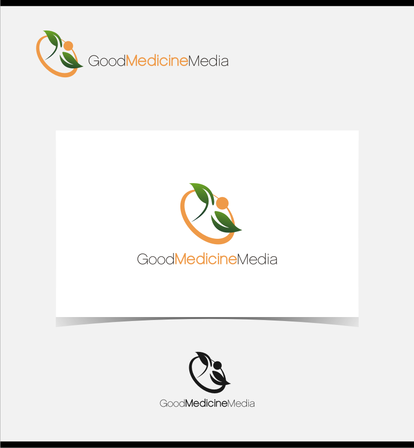 Logo Design by graphicleaf - Entry No. 81 in the Logo Design Contest Good Medicine Media Logo Design.