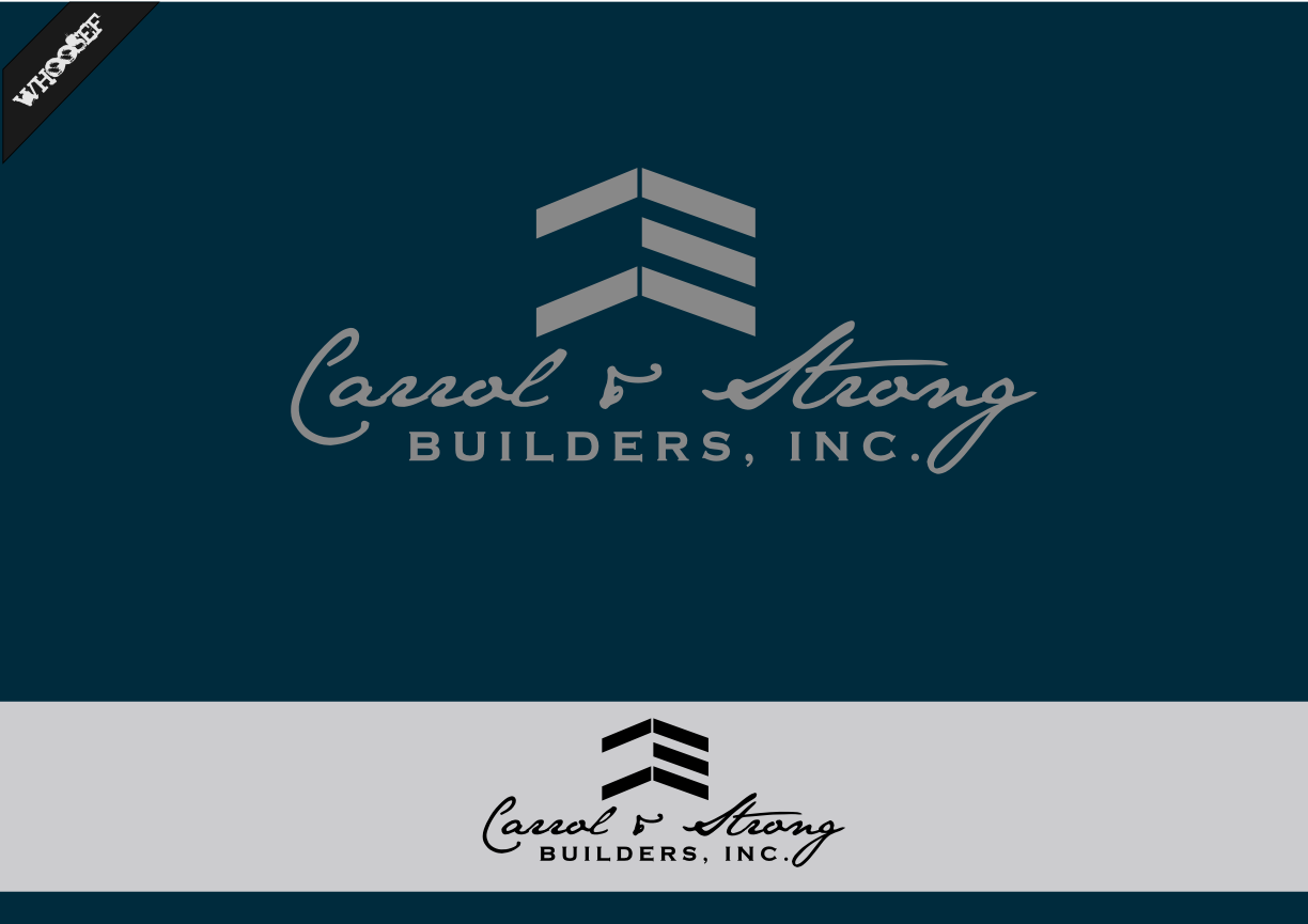 Logo Design by whoosef - Entry No. 24 in the Logo Design Contest New Logo Design for Carroll & Strong Builders, Inc..