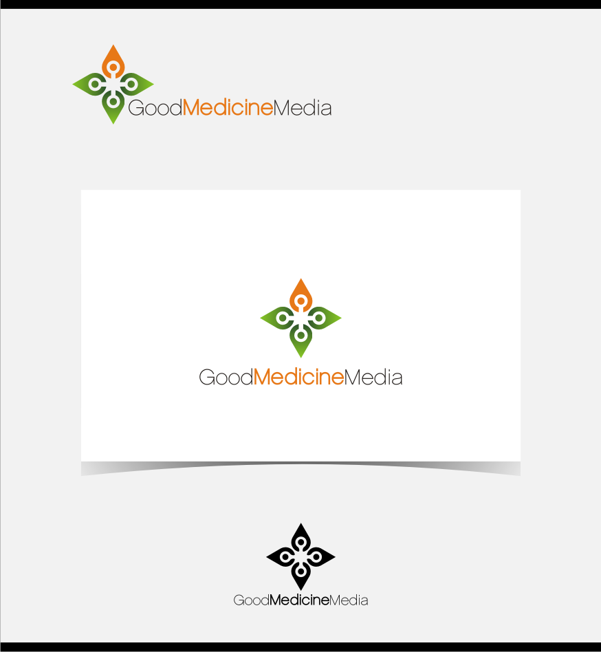 Logo Design by graphicleaf - Entry No. 91 in the Logo Design Contest Good Medicine Media Logo Design.