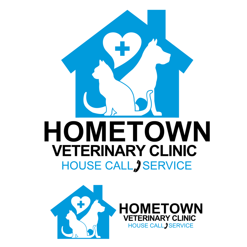Logo Design by Private User - Entry No. 25 in the Logo Design Contest Captivating Logo Design for Hometown Veterinary Clinic.