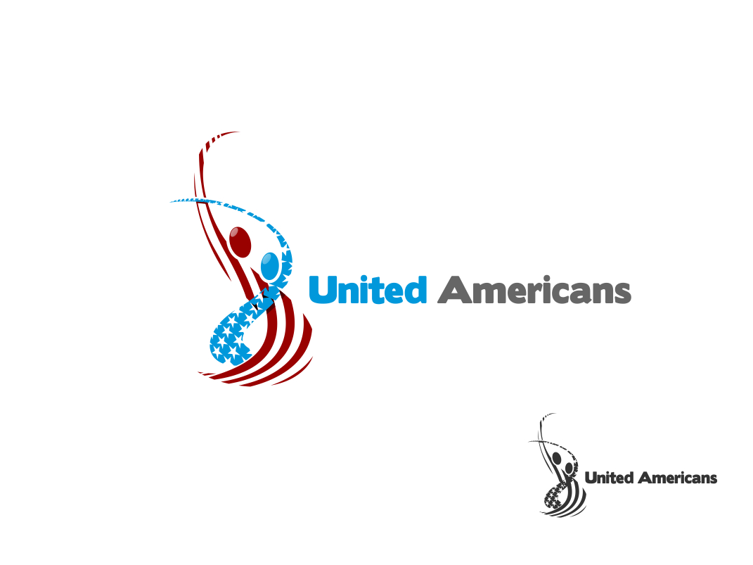 Logo Design by Chris Frederickson - Entry No. 32 in the Logo Design Contest Creative Logo Design for United Americans.