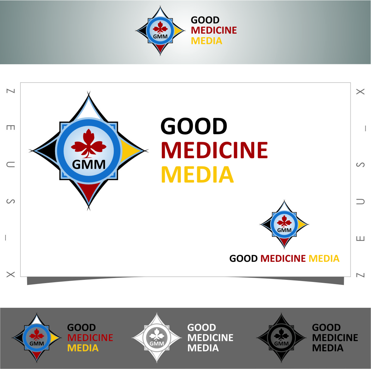 Logo Design by RasYa Muhammad Athaya - Entry No. 93 in the Logo Design Contest Good Medicine Media Logo Design.