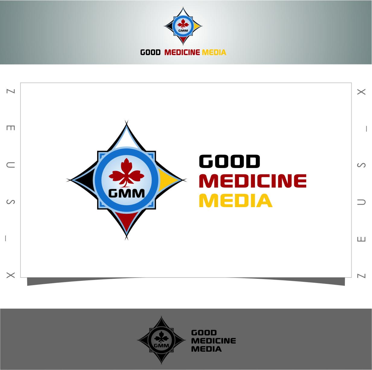 Logo Design by Ngepet_art - Entry No. 94 in the Logo Design Contest Good Medicine Media Logo Design.