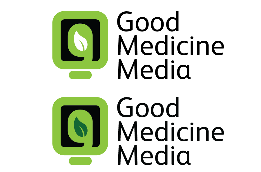 Logo Design by Christina Evans - Entry No. 100 in the Logo Design Contest Good Medicine Media Logo Design.