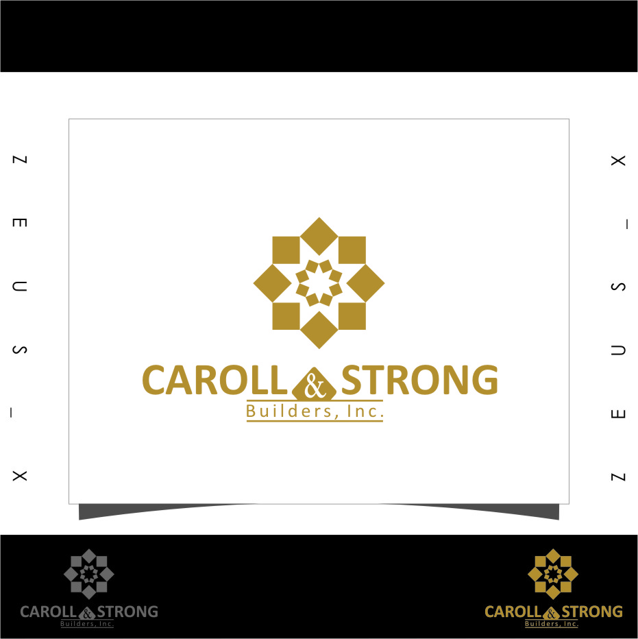Logo Design by RoSyid Rono-Rene On Java - Entry No. 26 in the Logo Design Contest New Logo Design for Carroll & Strong Builders, Inc..