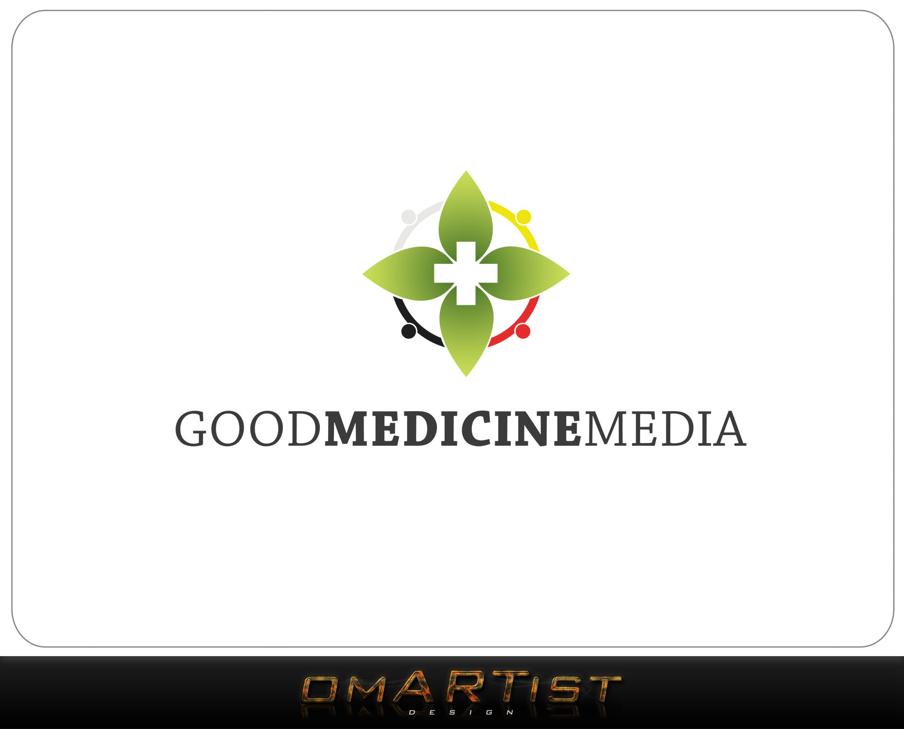 Logo Design by omARTist - Entry No. 107 in the Logo Design Contest Good Medicine Media Logo Design.