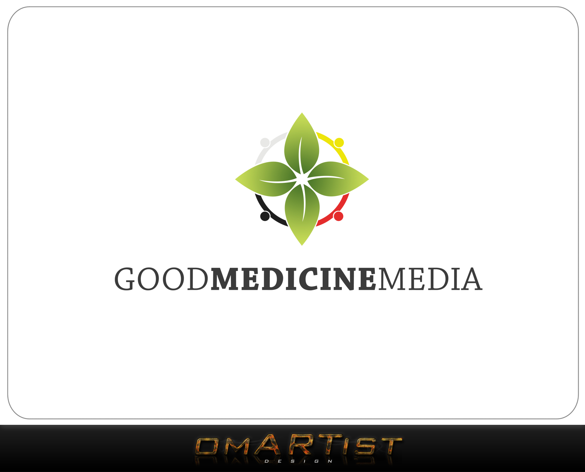 Logo Design by omARTist - Entry No. 108 in the Logo Design Contest Good Medicine Media Logo Design.