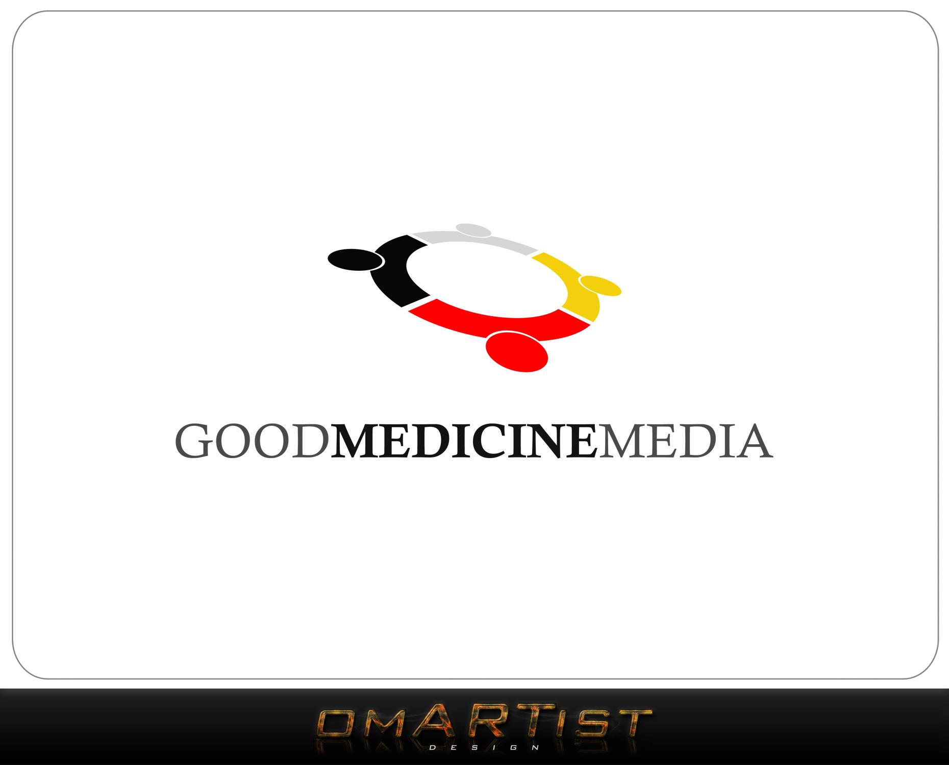 Logo Design by omARTist - Entry No. 110 in the Logo Design Contest Good Medicine Media Logo Design.