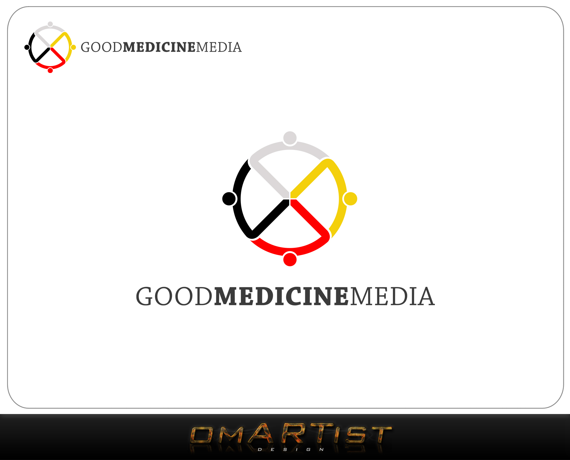 Logo Design by omARTist - Entry No. 117 in the Logo Design Contest Good Medicine Media Logo Design.