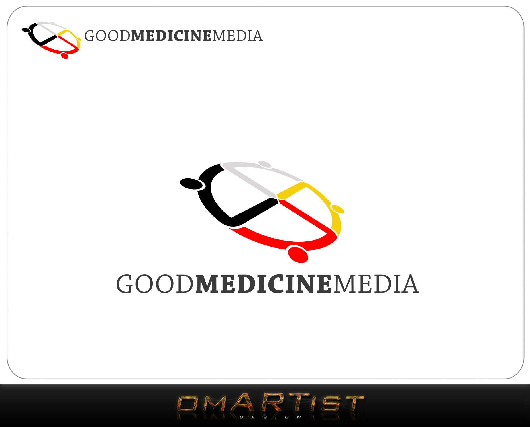 Logo Design by omARTist - Entry No. 119 in the Logo Design Contest Good Medicine Media Logo Design.