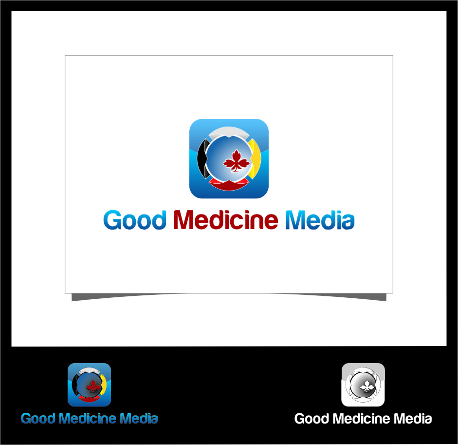 Logo Design by RasYa Muhammad Athaya - Entry No. 122 in the Logo Design Contest Good Medicine Media Logo Design.