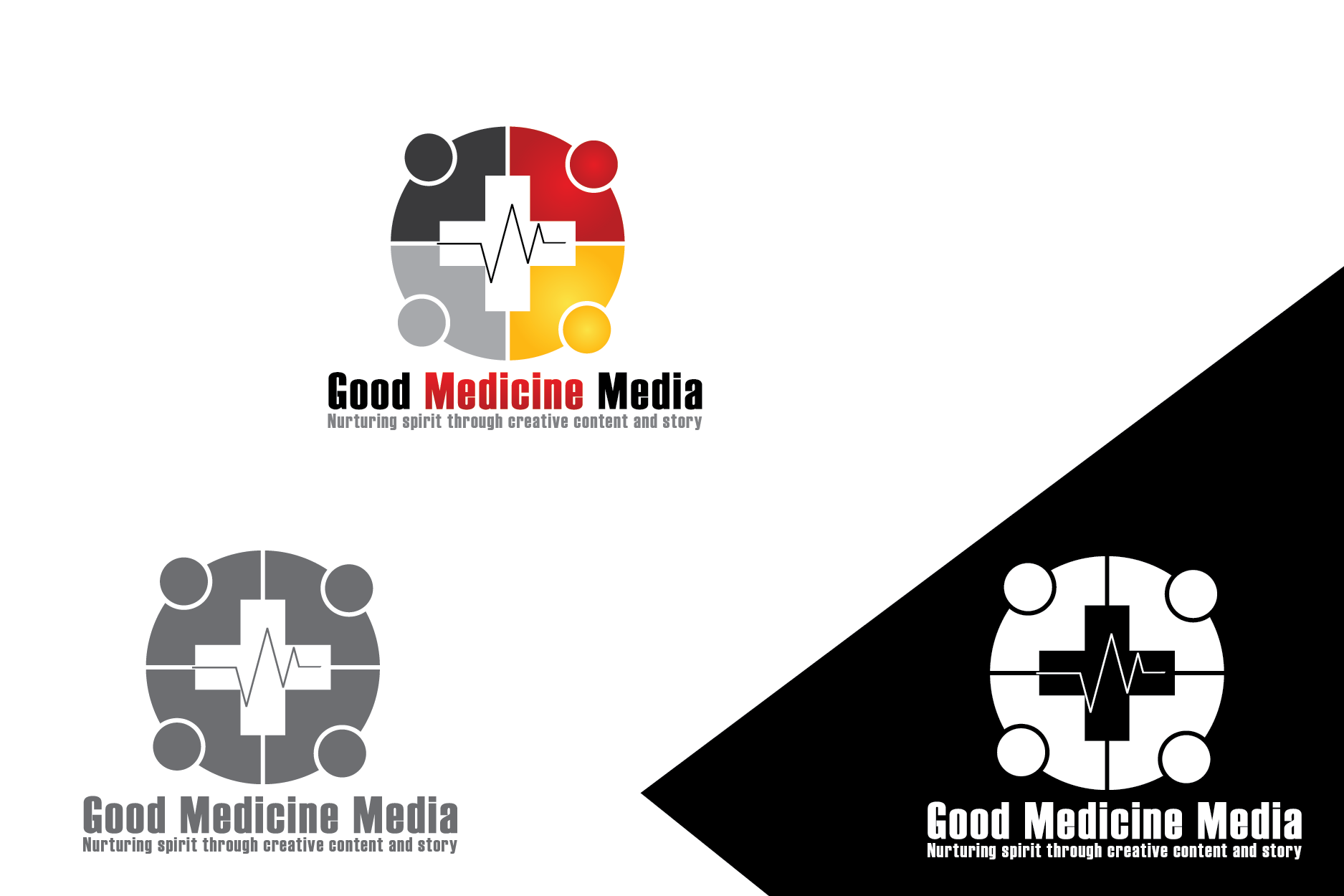 Logo Design by Private User - Entry No. 126 in the Logo Design Contest Good Medicine Media Logo Design.