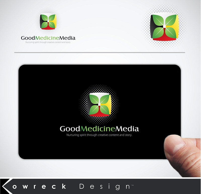 Logo Design by kowreck - Entry No. 132 in the Logo Design Contest Good Medicine Media Logo Design.