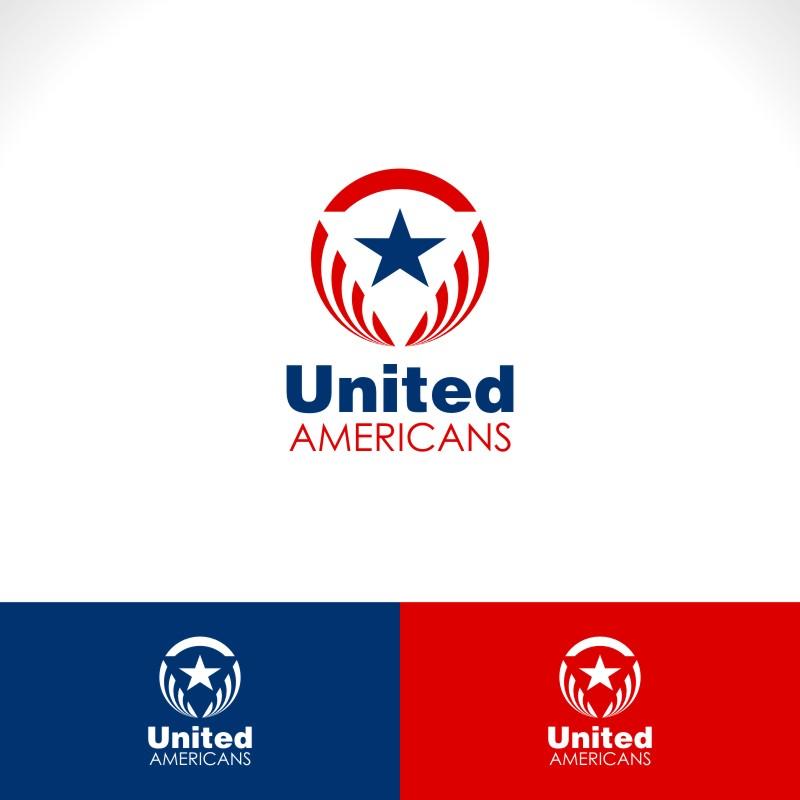 Logo Design by Private User - Entry No. 41 in the Logo Design Contest Creative Logo Design for United Americans.