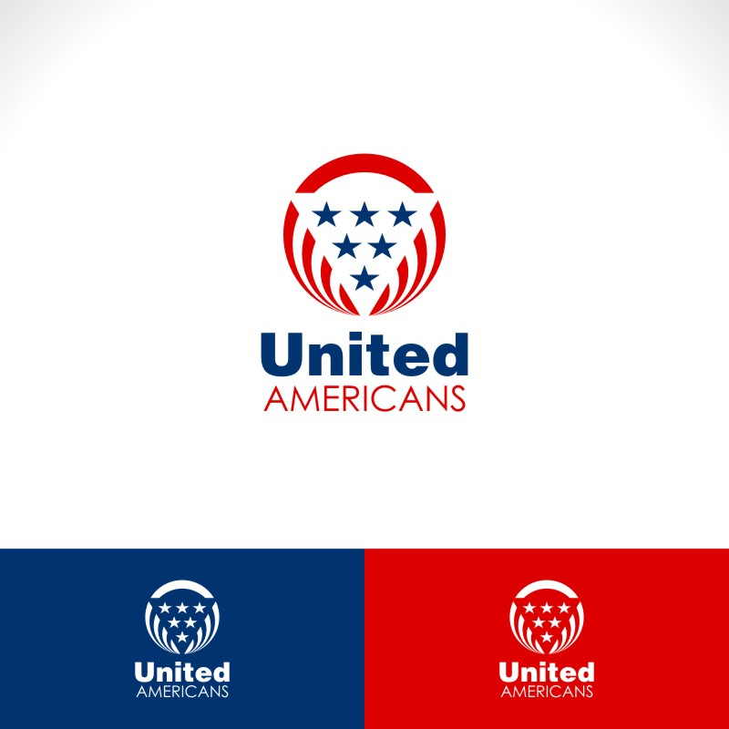 Logo Design by Private User - Entry No. 43 in the Logo Design Contest Creative Logo Design for United Americans.