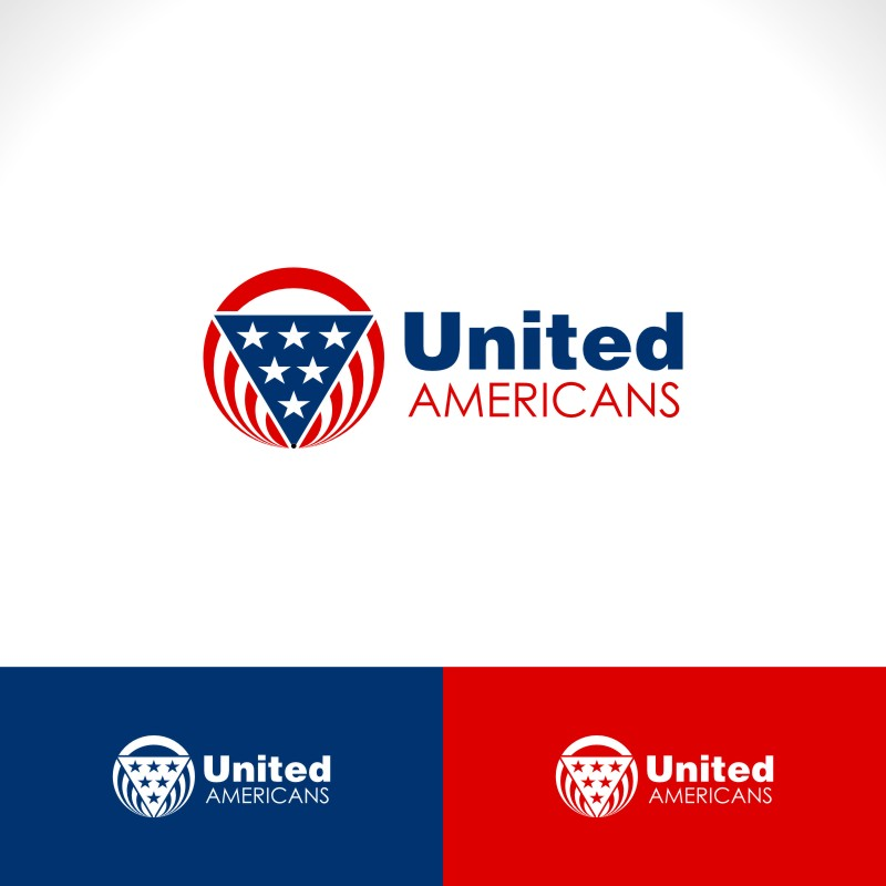 Logo Design by Private User - Entry No. 45 in the Logo Design Contest Creative Logo Design for United Americans.