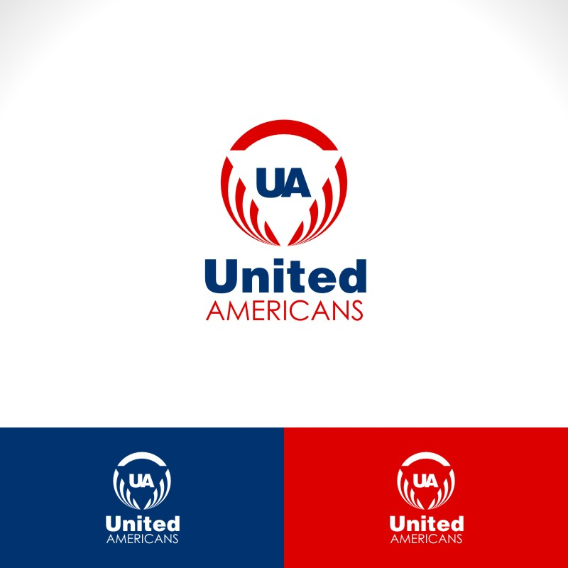 Logo Design by Private User - Entry No. 46 in the Logo Design Contest Creative Logo Design for United Americans.