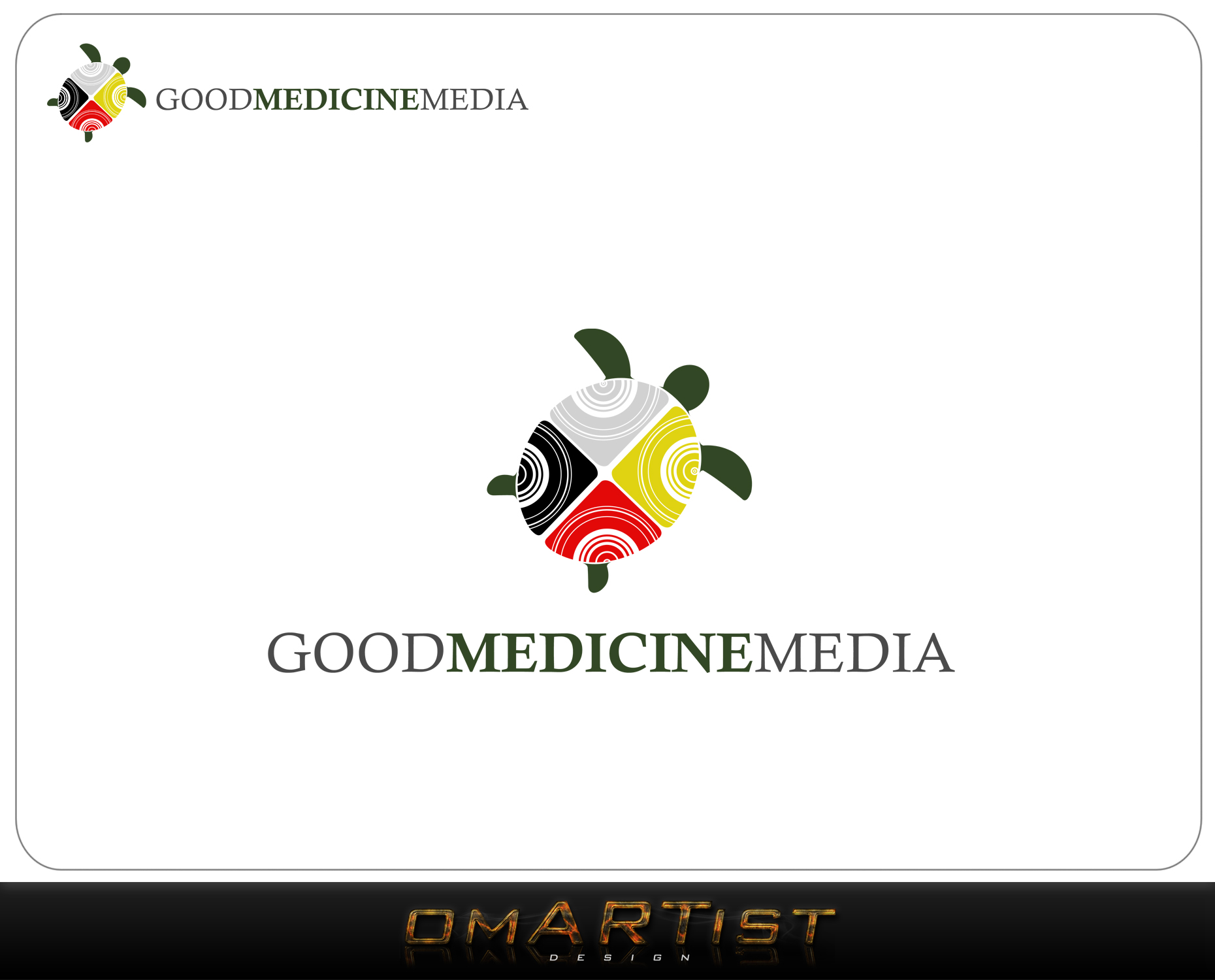 Logo Design by omARTist - Entry No. 137 in the Logo Design Contest Good Medicine Media Logo Design.