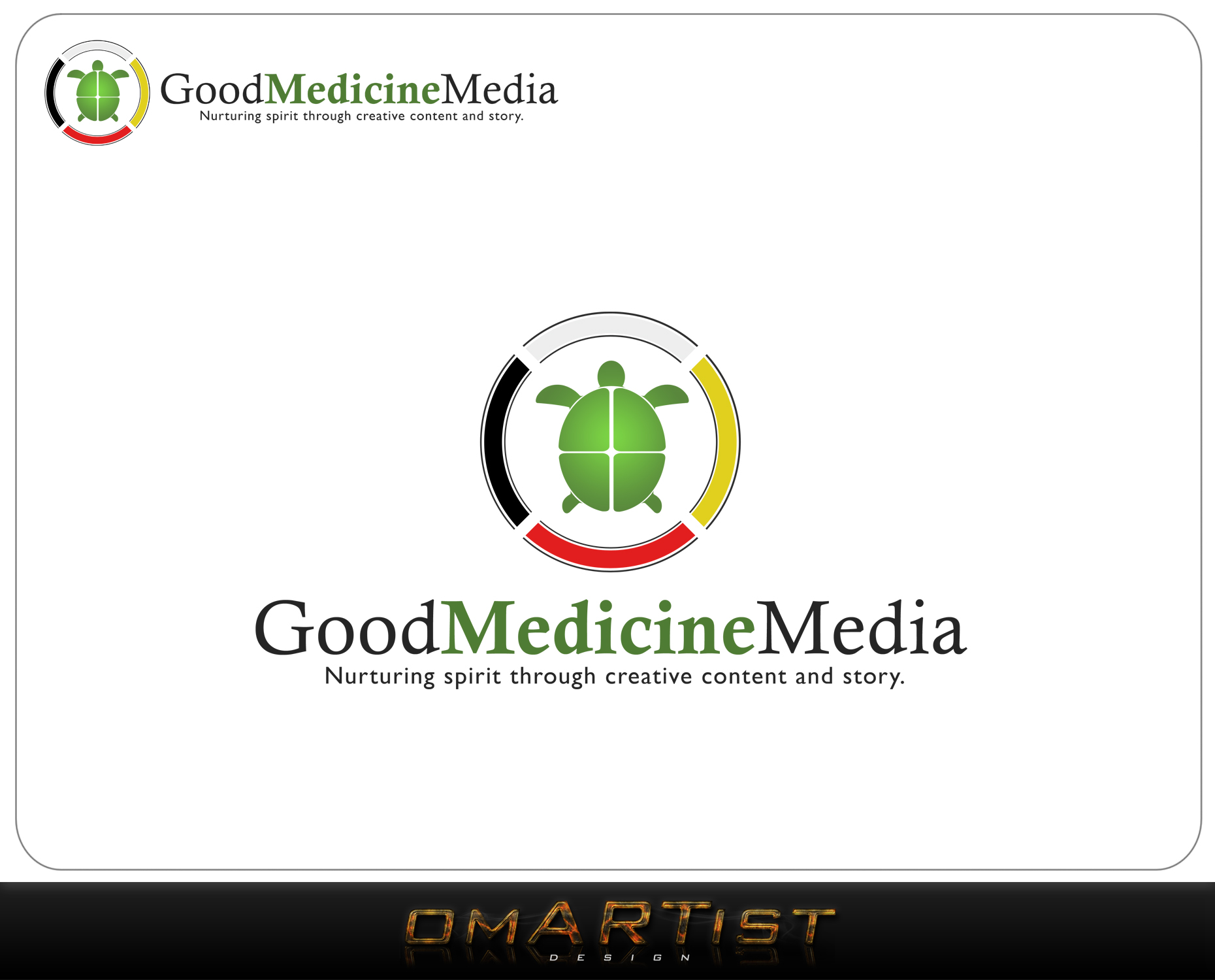 Logo Design by omARTist - Entry No. 141 in the Logo Design Contest Good Medicine Media Logo Design.