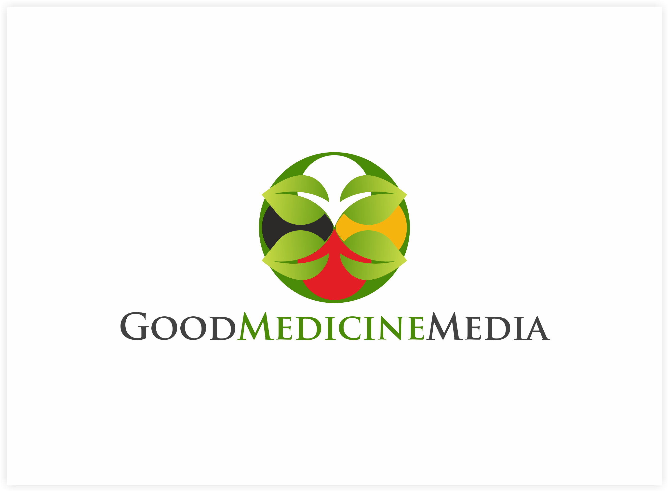 Logo Design by Luis Benayas - Entry No. 143 in the Logo Design Contest Good Medicine Media Logo Design.