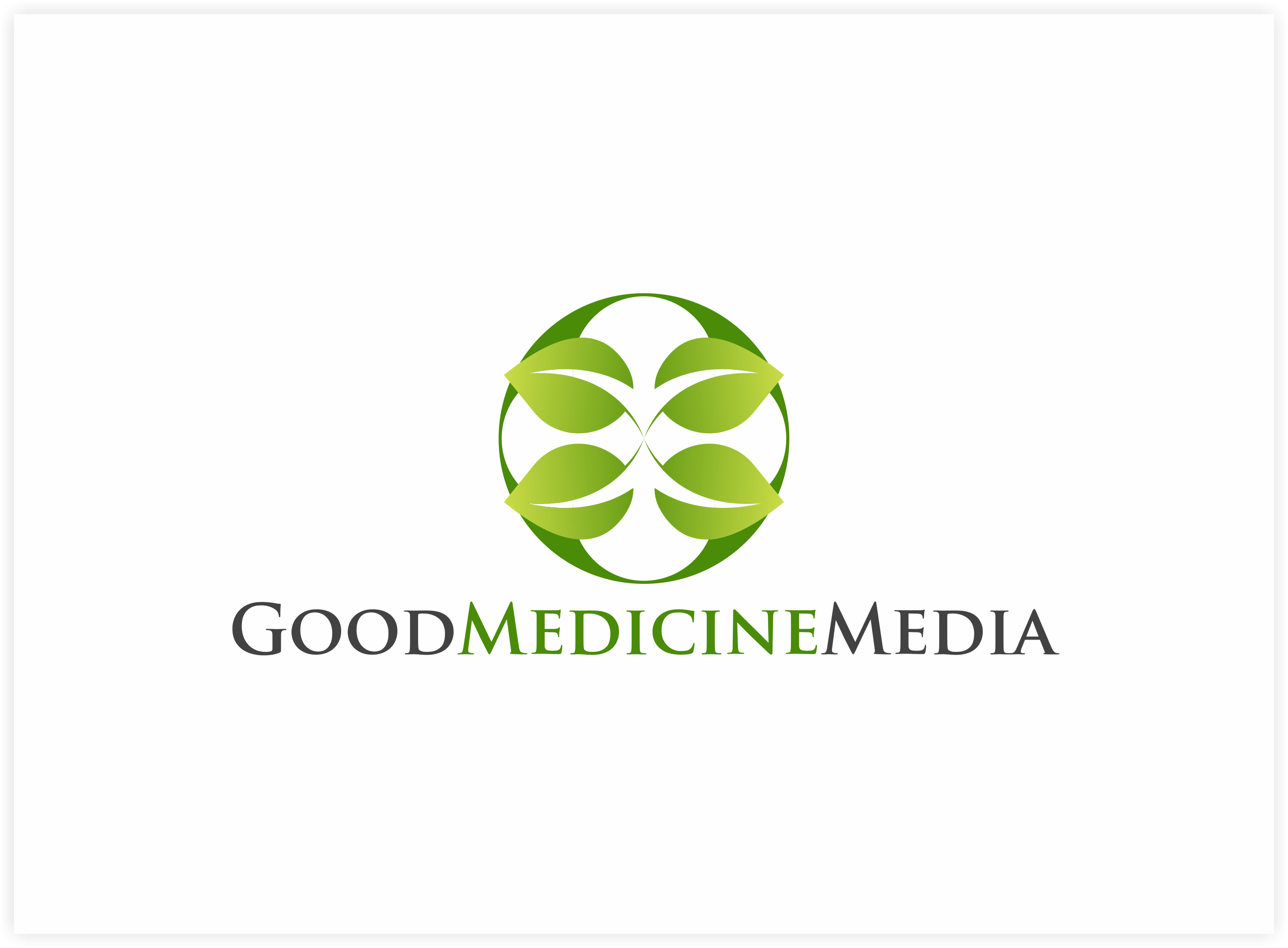 Logo Design by Luis Benayas - Entry No. 144 in the Logo Design Contest Good Medicine Media Logo Design.