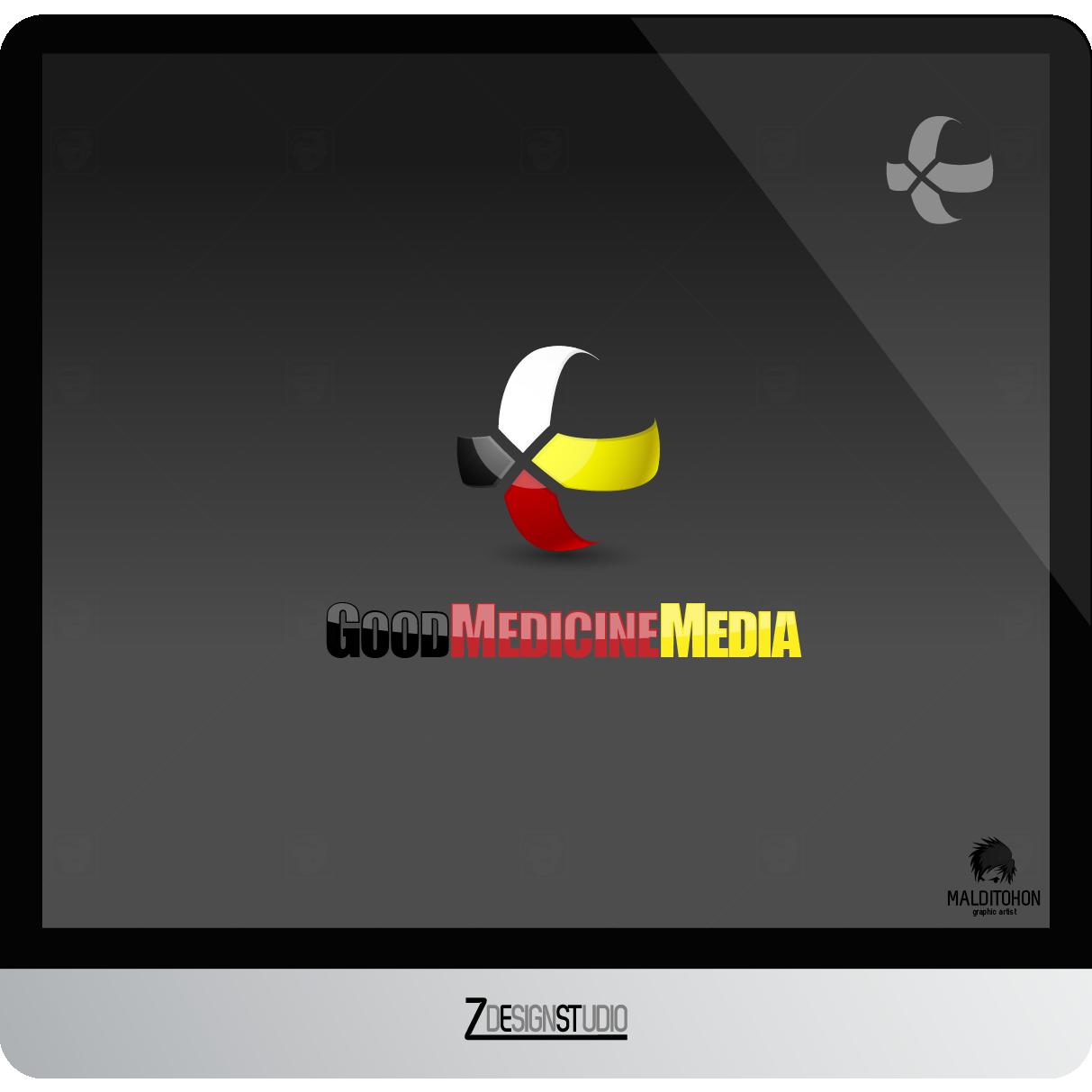 Logo Design by zesthar - Entry No. 153 in the Logo Design Contest Good Medicine Media Logo Design.