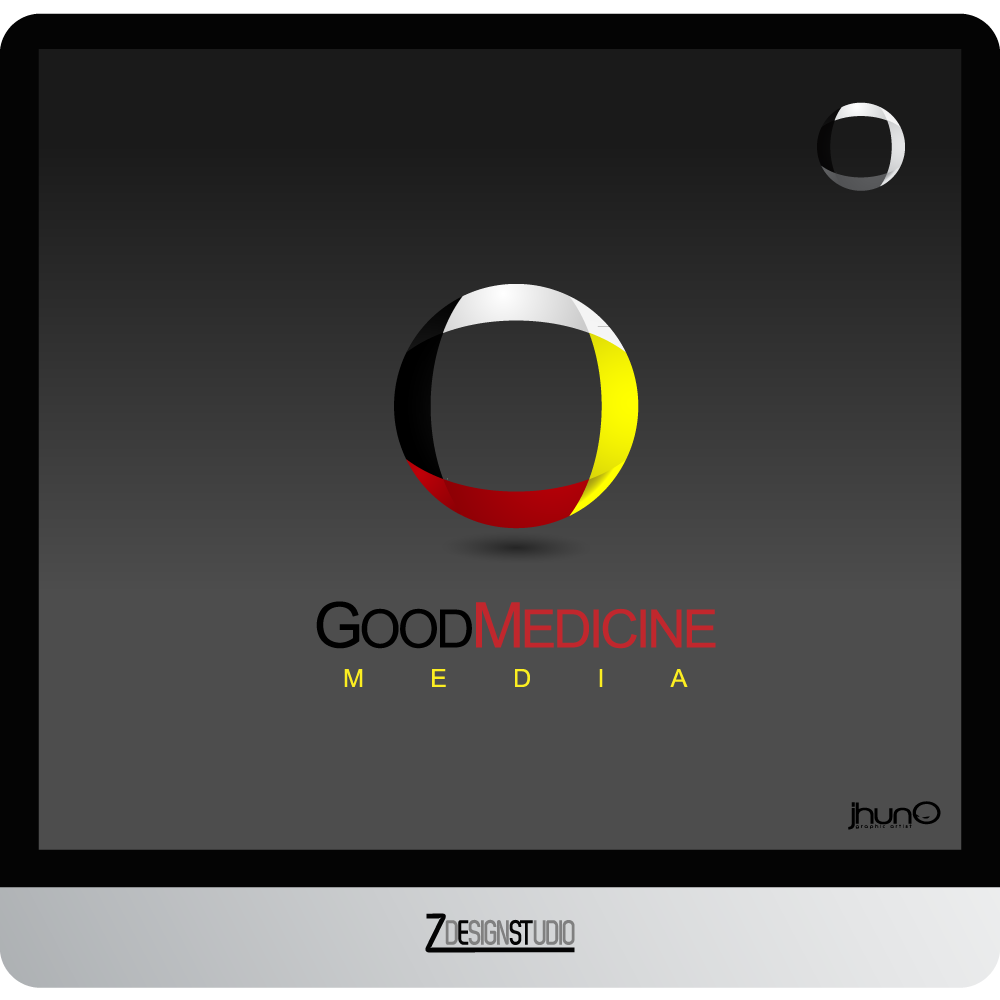 Logo Design by zesthar - Entry No. 154 in the Logo Design Contest Good Medicine Media Logo Design.