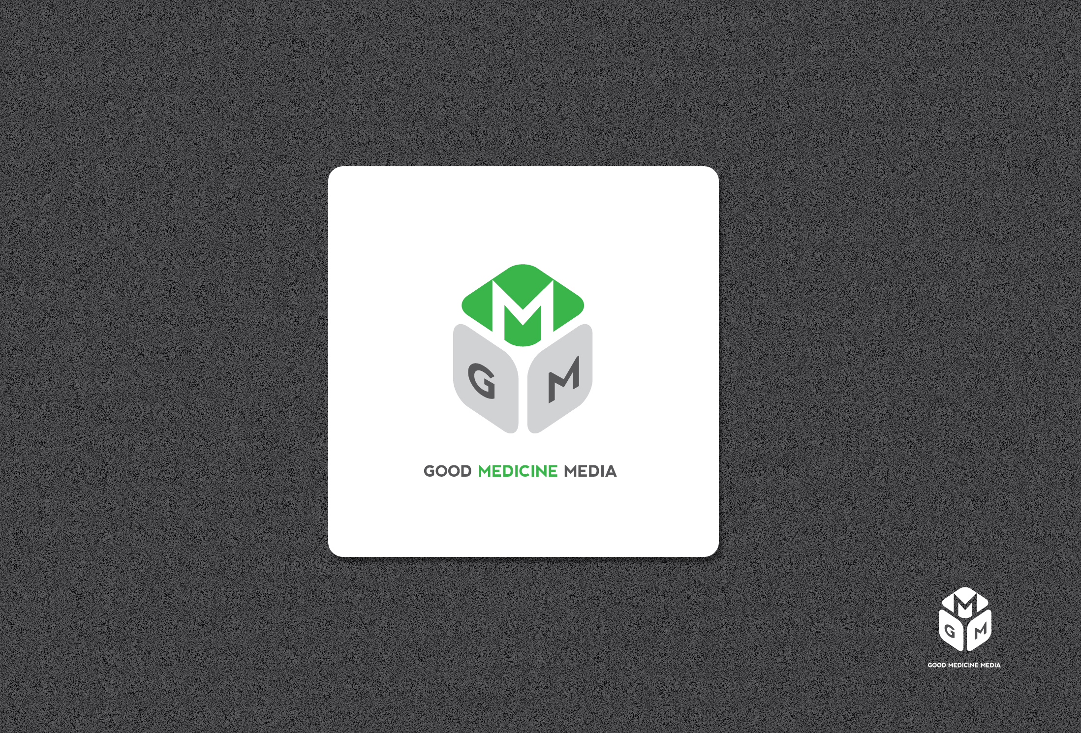 Logo Design by Shameer Okay - Entry No. 156 in the Logo Design Contest Good Medicine Media Logo Design.