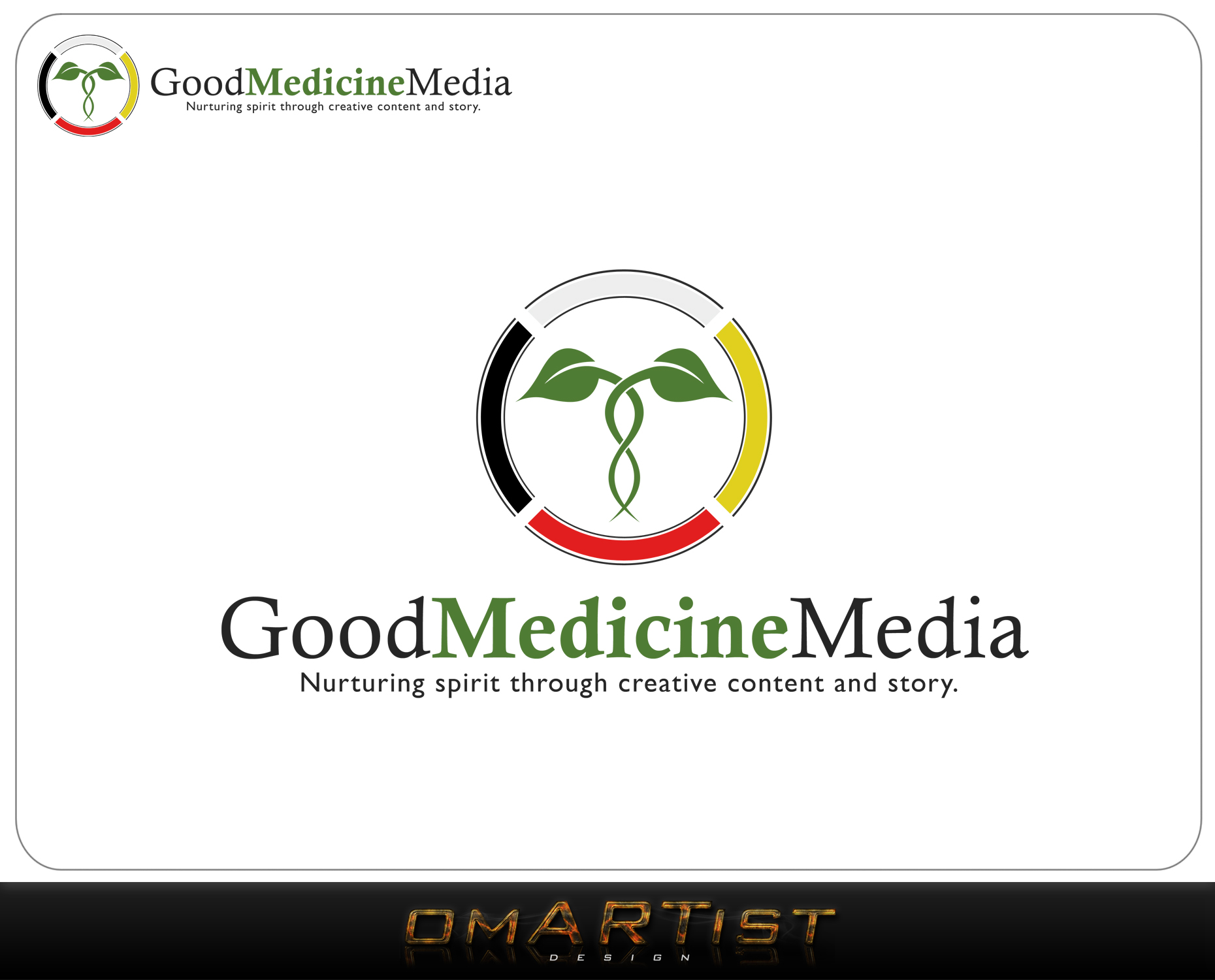 Logo Design by omARTist - Entry No. 158 in the Logo Design Contest Good Medicine Media Logo Design.