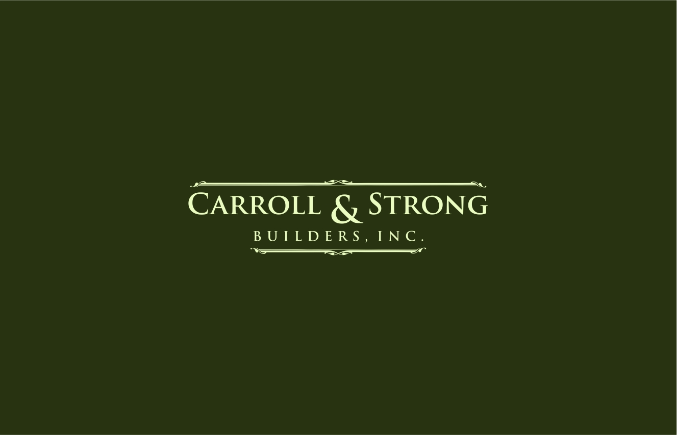Logo Design by haidu - Entry No. 44 in the Logo Design Contest New Logo Design for Carroll & Strong Builders, Inc..