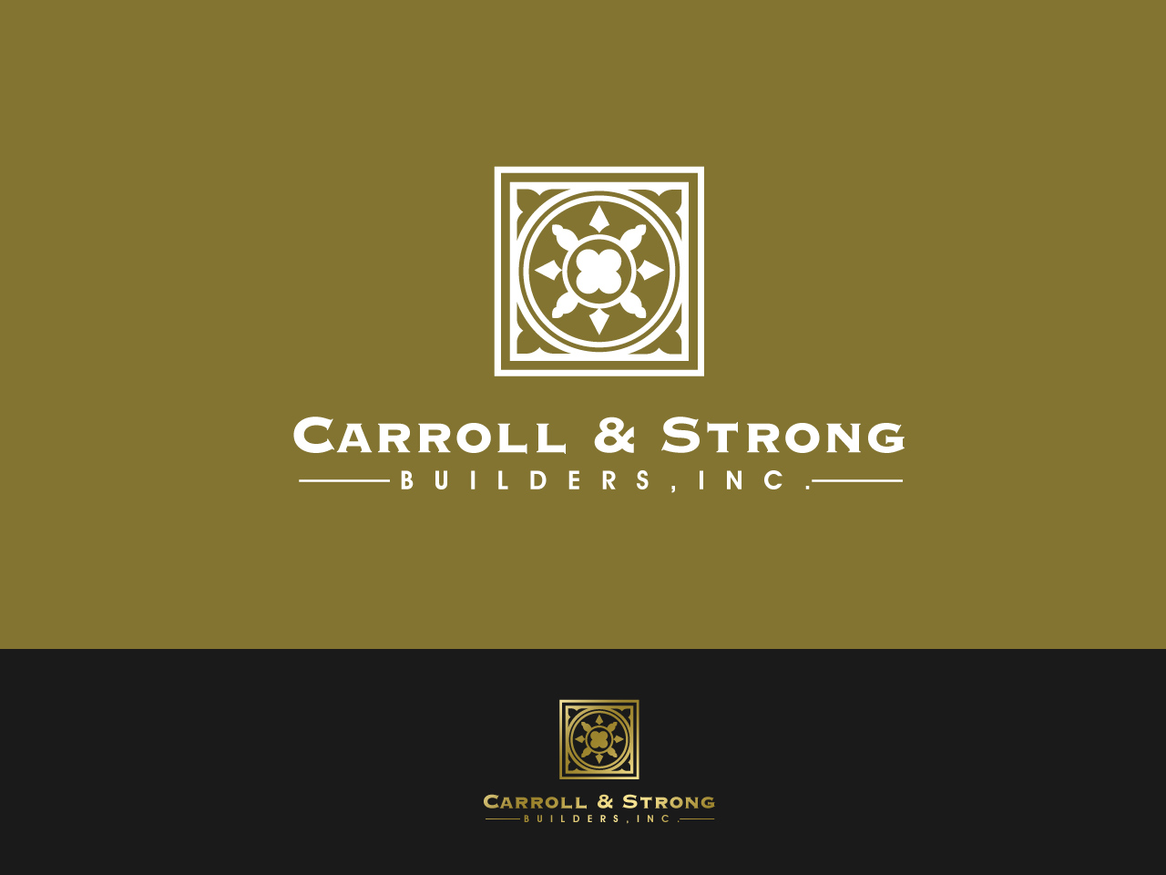 Logo Design by jpbituin - Entry No. 45 in the Logo Design Contest New Logo Design for Carroll & Strong Builders, Inc..
