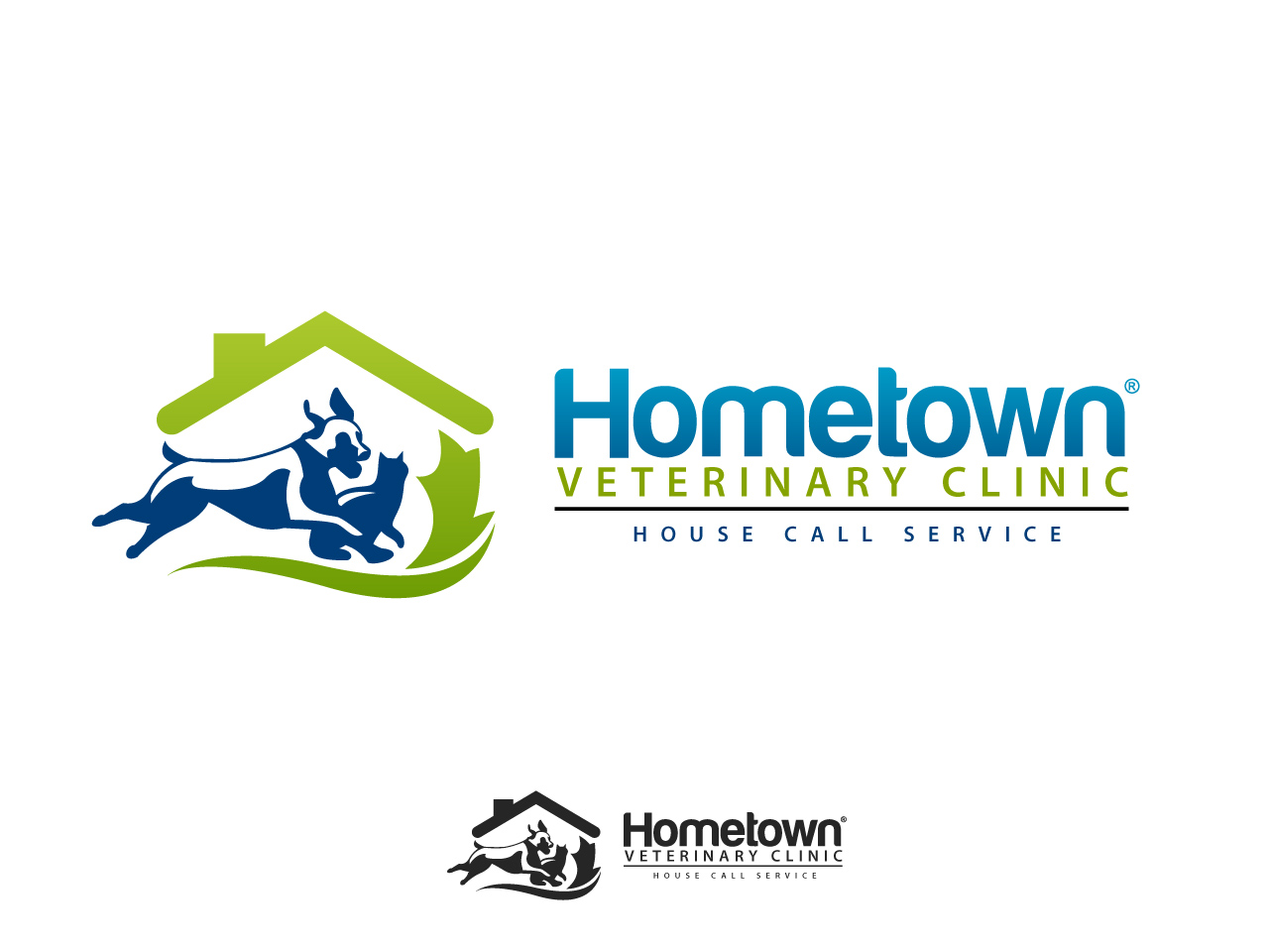 Logo Design by jpbituin - Entry No. 30 in the Logo Design Contest Captivating Logo Design for Hometown Veterinary Clinic.