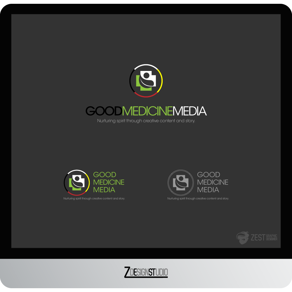 Logo Design by zesthar - Entry No. 163 in the Logo Design Contest Good Medicine Media Logo Design.