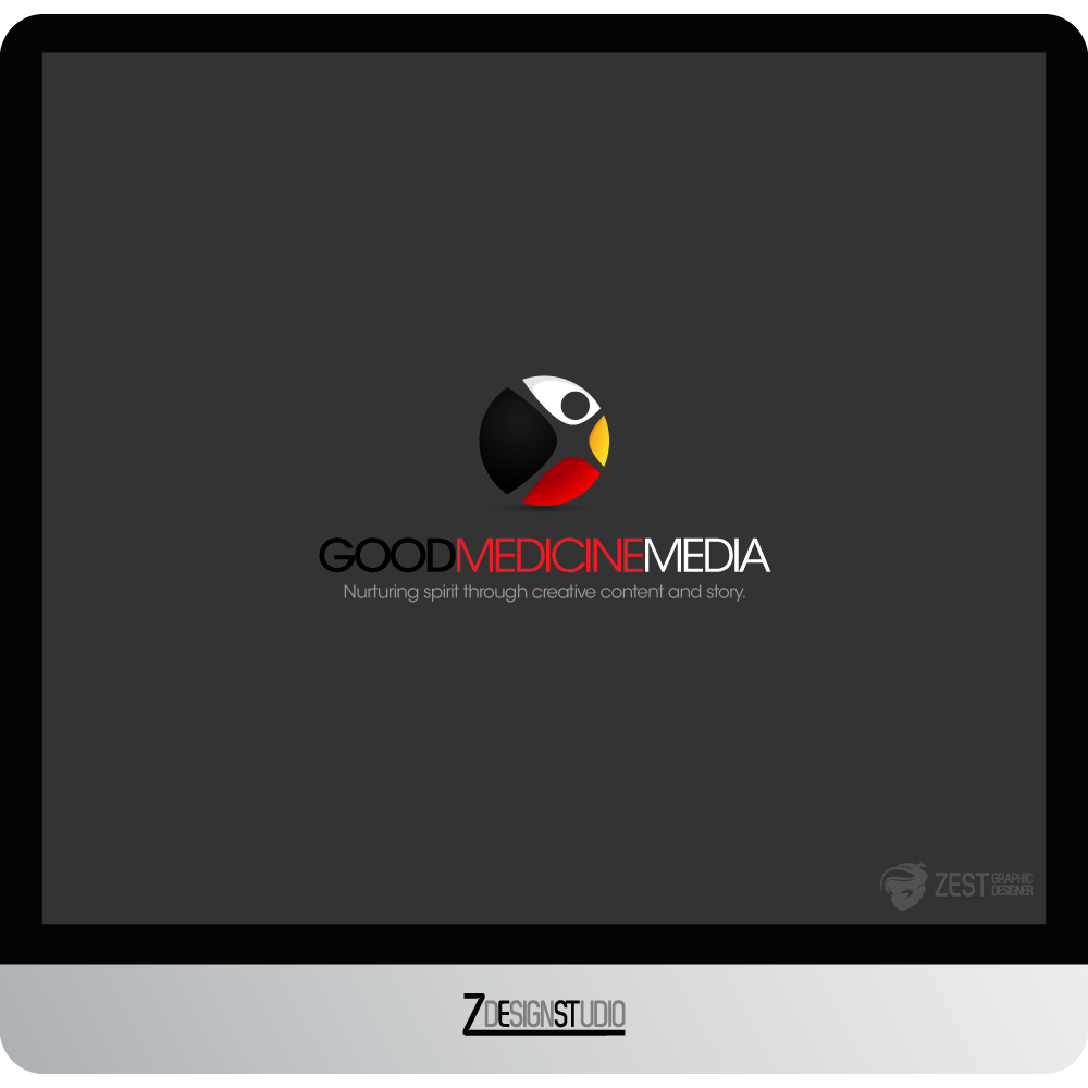 Logo Design by zesthar - Entry No. 164 in the Logo Design Contest Good Medicine Media Logo Design.