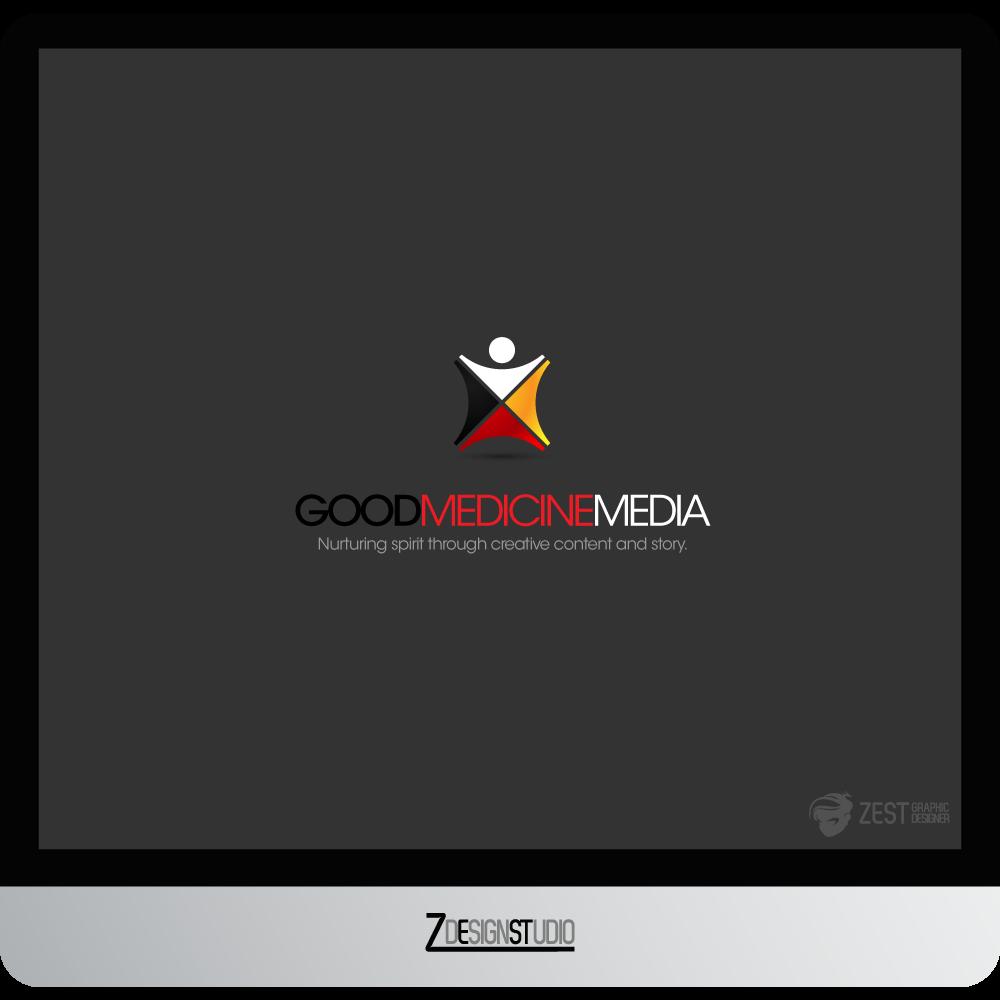 Logo Design by zesthar - Entry No. 165 in the Logo Design Contest Good Medicine Media Logo Design.
