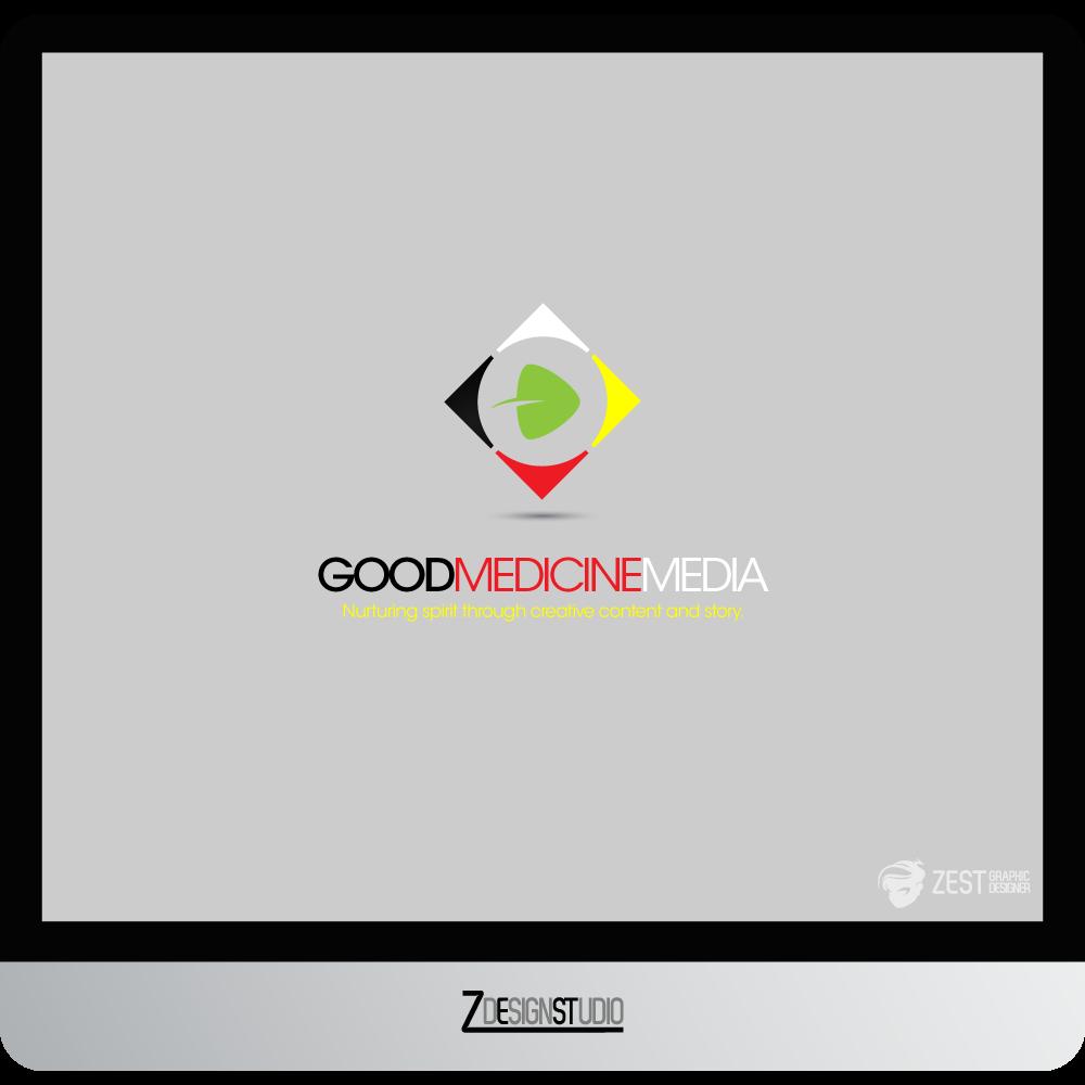 Logo Design by zesthar - Entry No. 167 in the Logo Design Contest Good Medicine Media Logo Design.