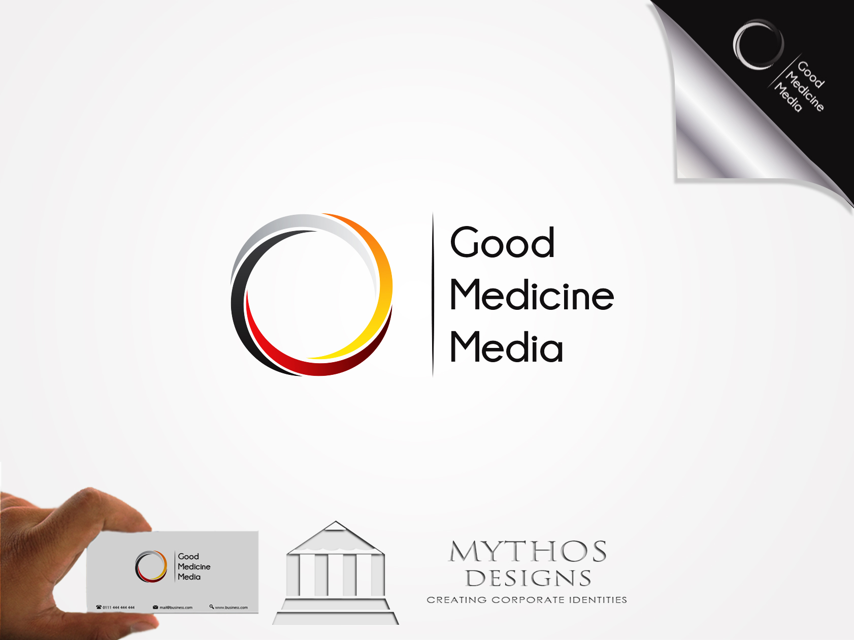 Logo Design by Mythos Designs - Entry No. 170 in the Logo Design Contest Good Medicine Media Logo Design.