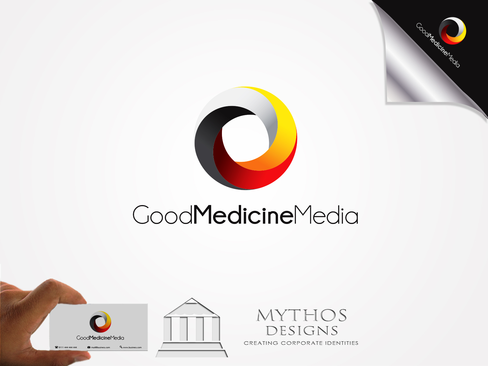 Logo Design by Mythos Designs - Entry No. 172 in the Logo Design Contest Good Medicine Media Logo Design.