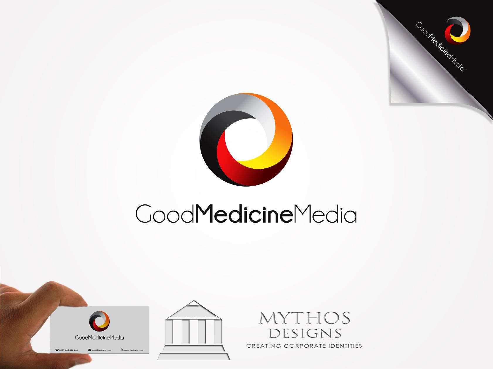 Logo Design by Mythos Designs - Entry No. 175 in the Logo Design Contest Good Medicine Media Logo Design.