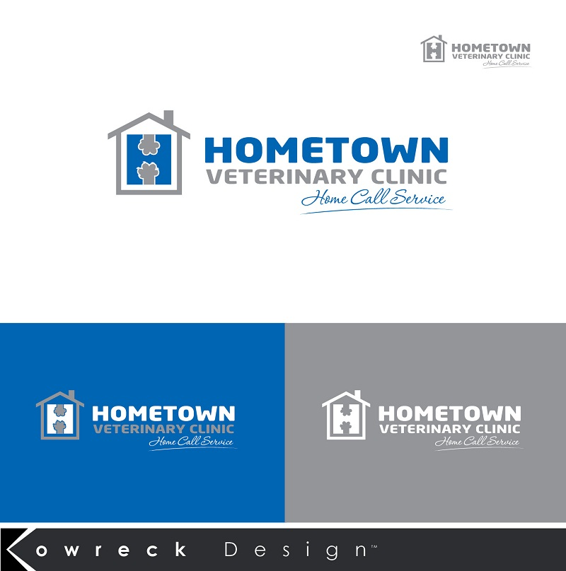 Logo Design by kowreck - Entry No. 31 in the Logo Design Contest Captivating Logo Design for Hometown Veterinary Clinic.