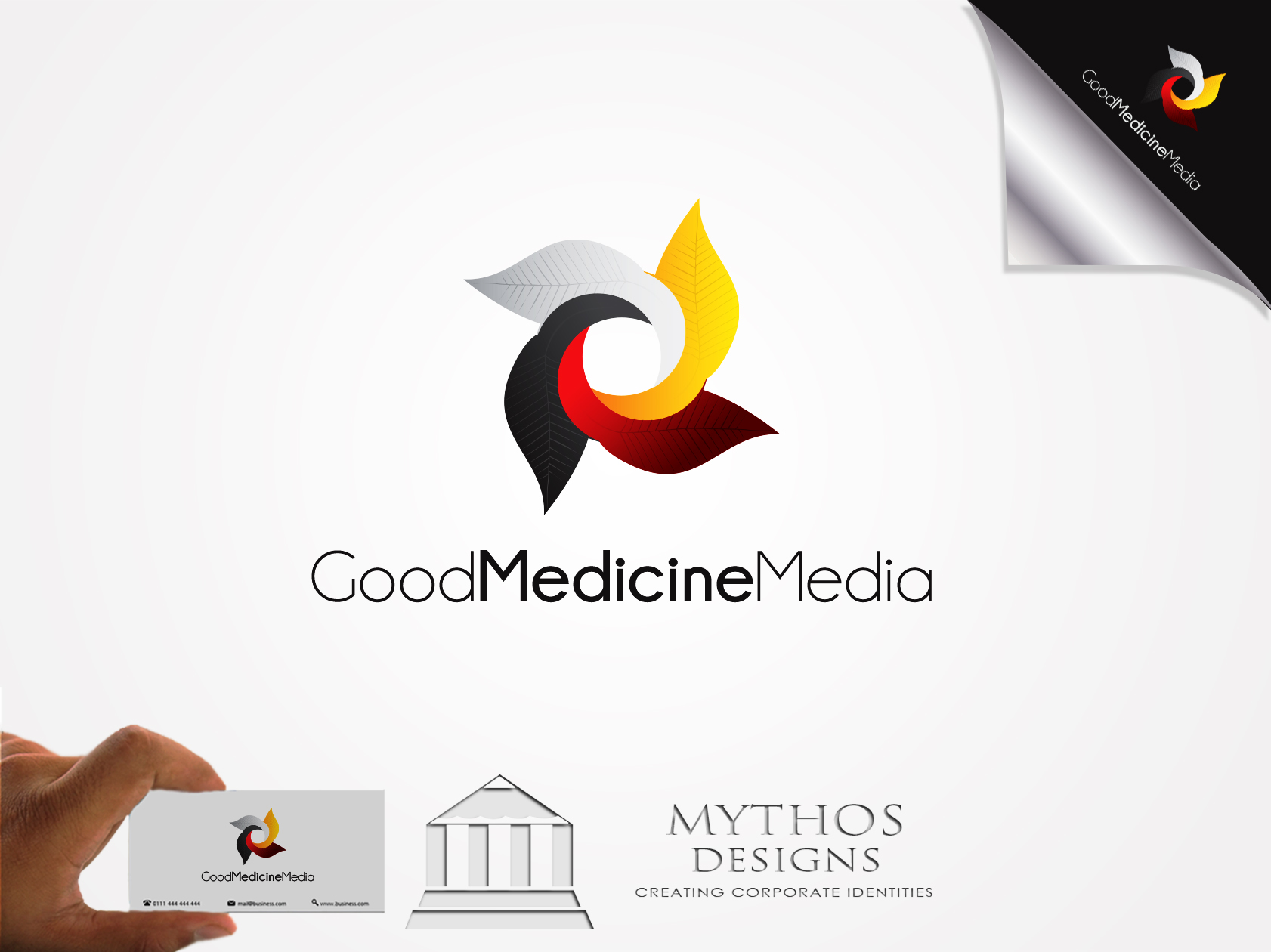 Logo Design by Mythos Designs - Entry No. 177 in the Logo Design Contest Good Medicine Media Logo Design.
