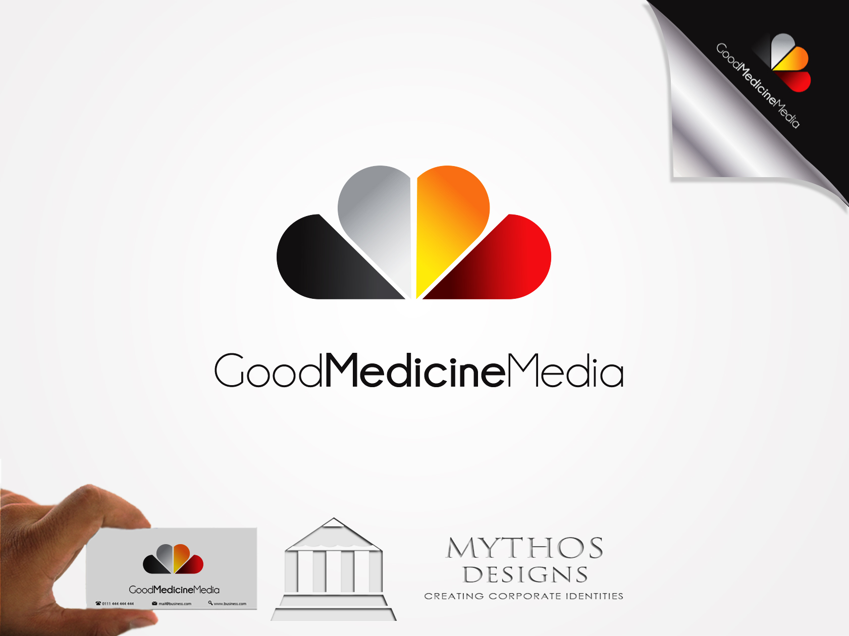 Logo Design by Mythos Designs - Entry No. 178 in the Logo Design Contest Good Medicine Media Logo Design.