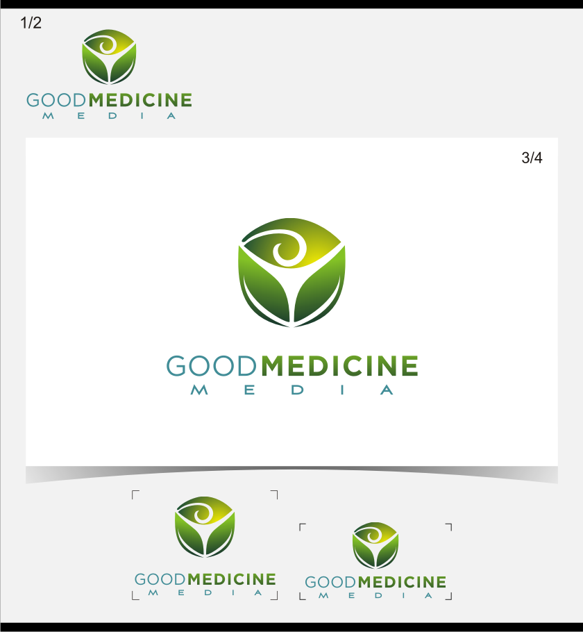 Logo Design by graphicleaf - Entry No. 179 in the Logo Design Contest Good Medicine Media Logo Design.