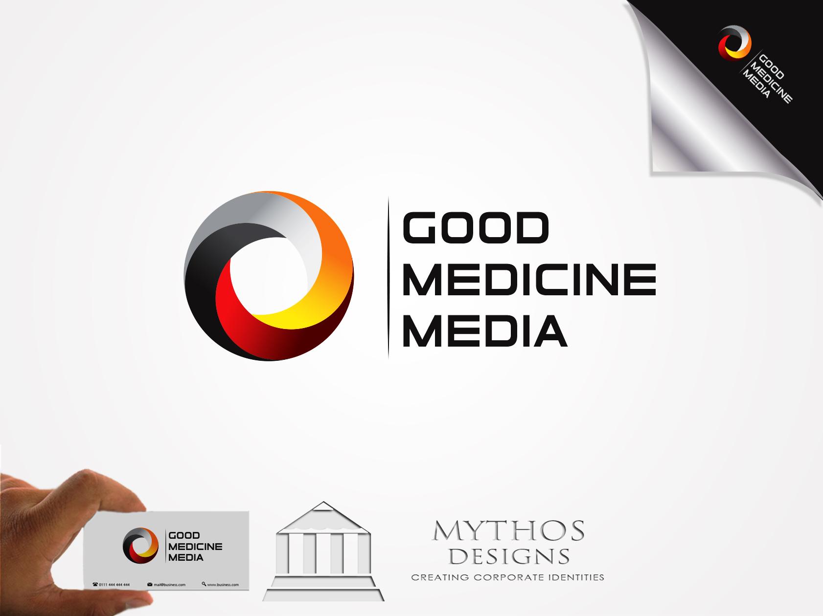 Logo Design by Mythos Designs - Entry No. 180 in the Logo Design Contest Good Medicine Media Logo Design.