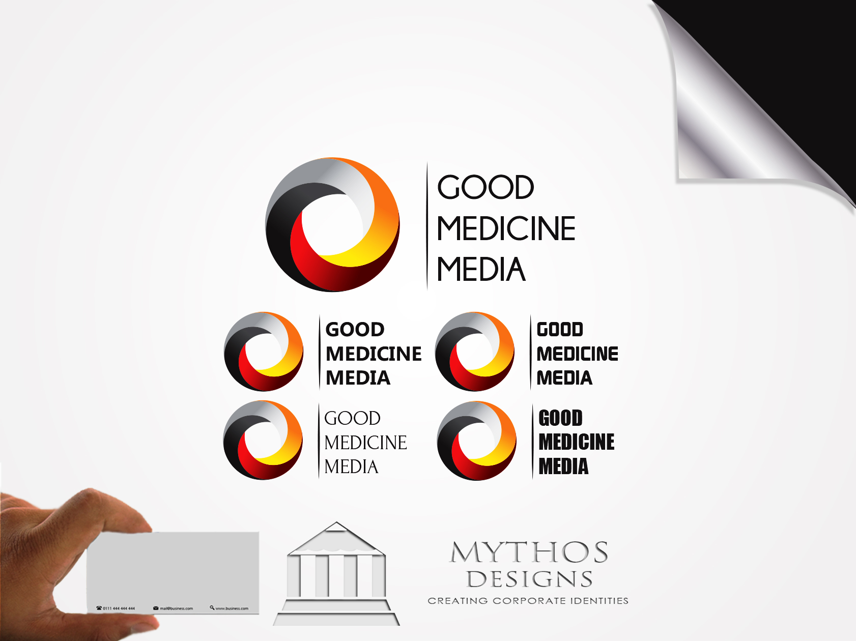 Logo Design by Mythos Designs - Entry No. 182 in the Logo Design Contest Good Medicine Media Logo Design.