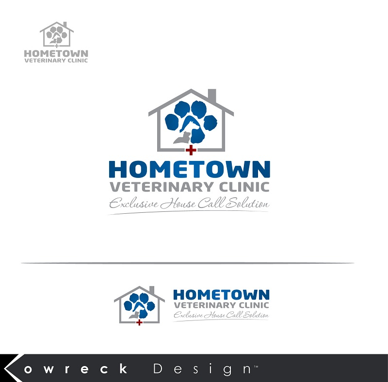Logo Design by kowreck - Entry No. 32 in the Logo Design Contest Captivating Logo Design for Hometown Veterinary Clinic.