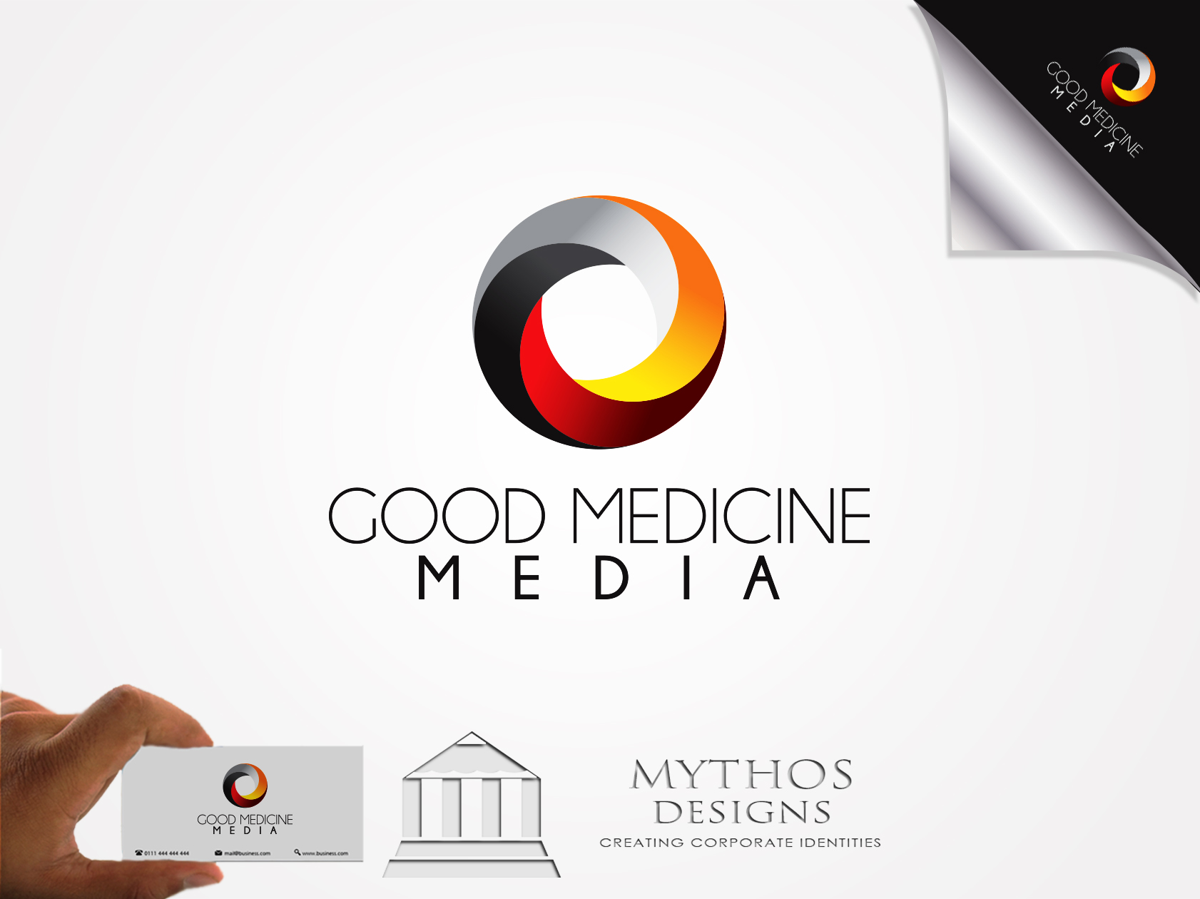 Logo Design by Mythos Designs - Entry No. 185 in the Logo Design Contest Good Medicine Media Logo Design.