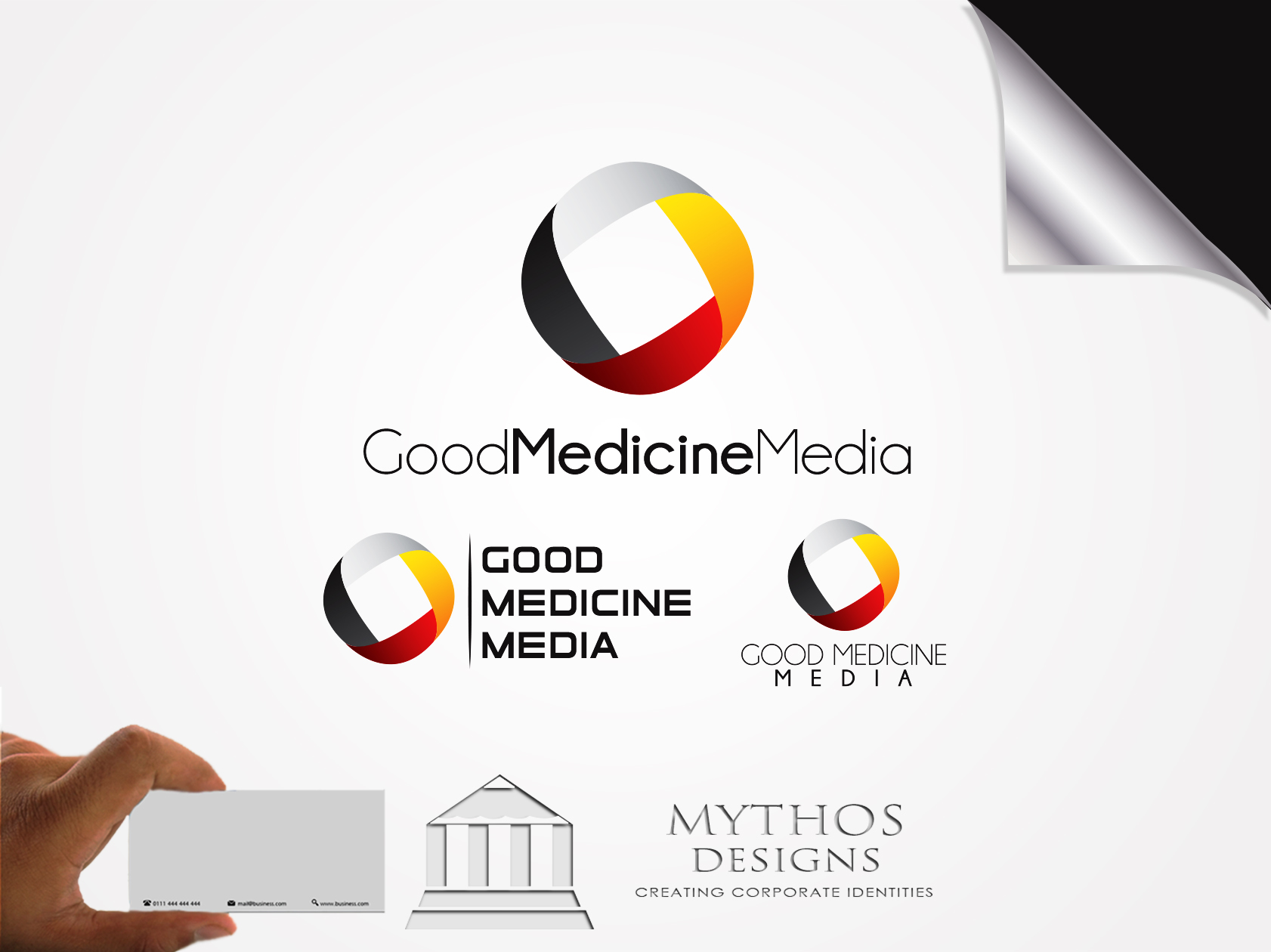 Logo Design by Mythos Designs - Entry No. 187 in the Logo Design Contest Good Medicine Media Logo Design.