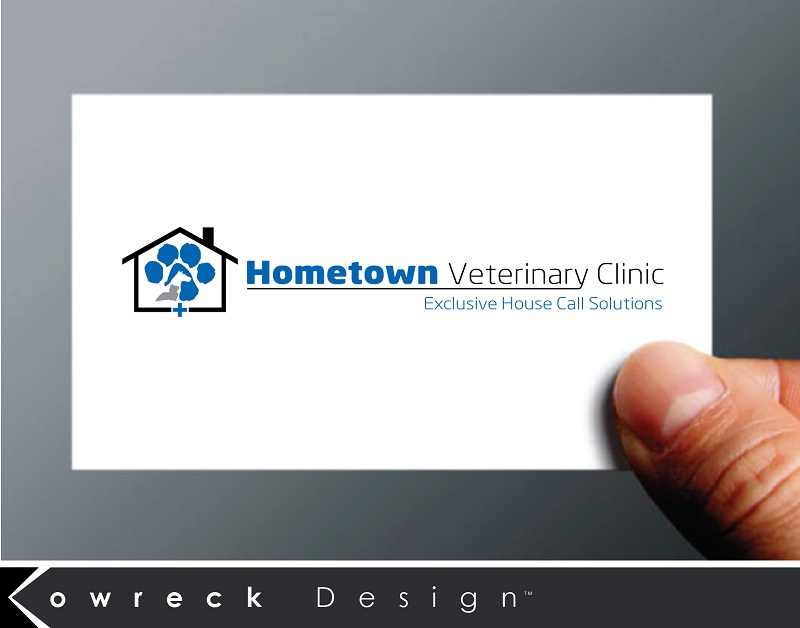 Logo Design by kowreck - Entry No. 33 in the Logo Design Contest Captivating Logo Design for Hometown Veterinary Clinic.